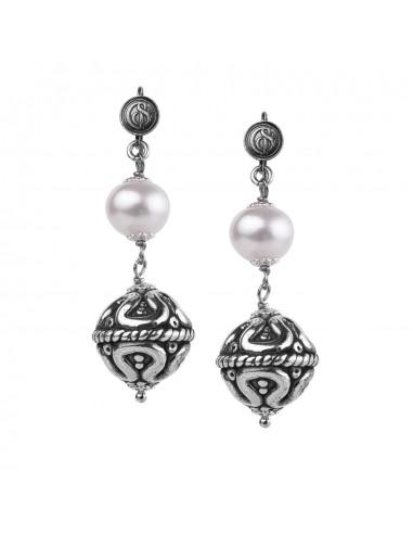 Gerardo Sacco Earrings Silver with...