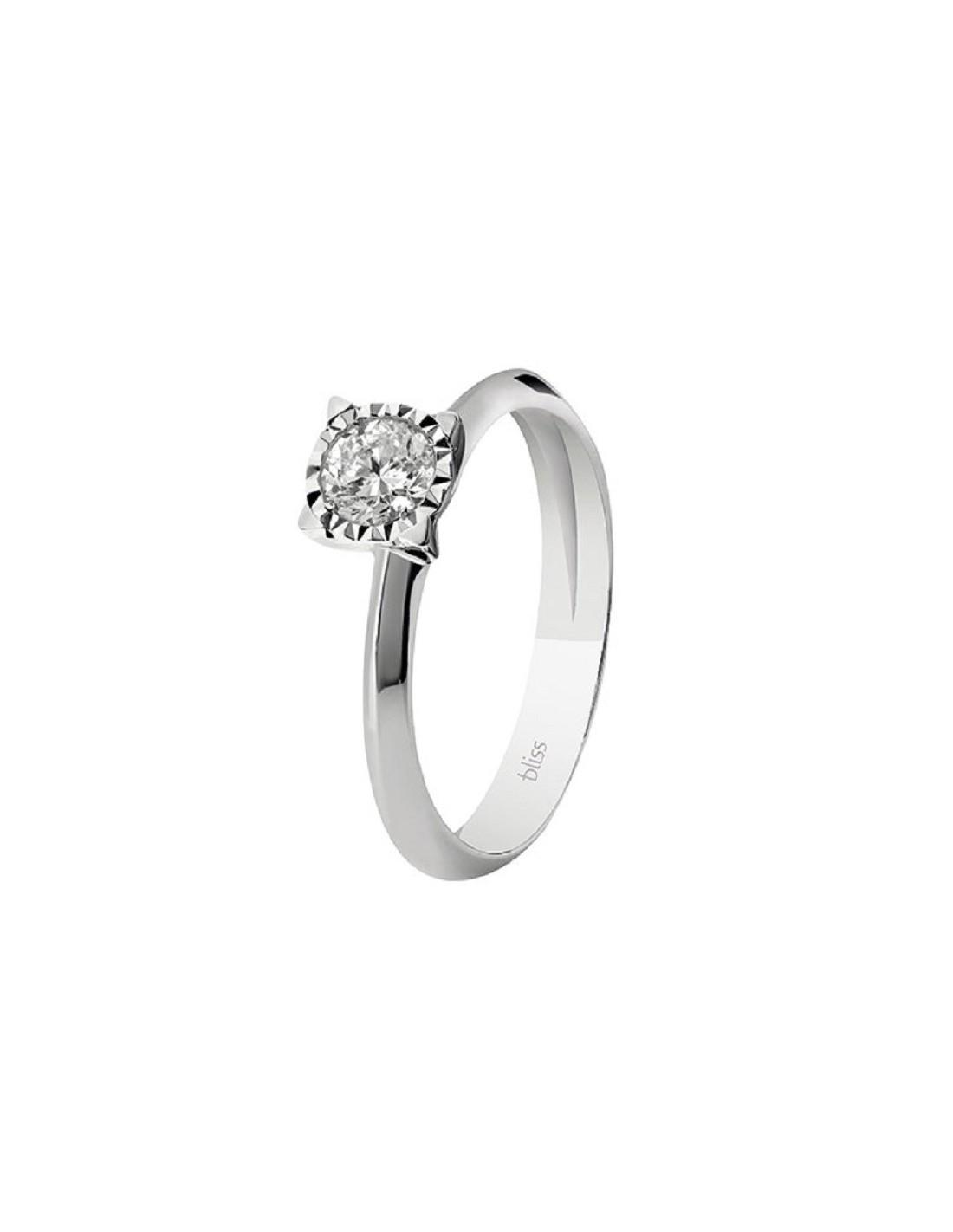 comprare popolare a9e63 45d2b Anello LUMINA gioielli Bliss solitario in oro bianco e diamante 20073740