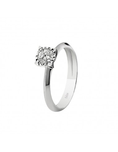LUMINA Bliss solitaire ring in white...