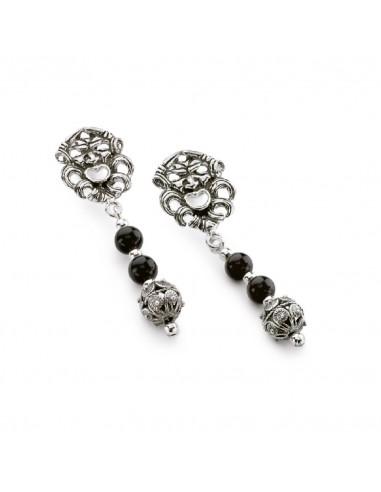 Gerardo Sacco silver earrings with...