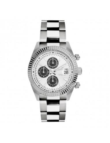 Geneva Lorenz chrono steel watch sub...