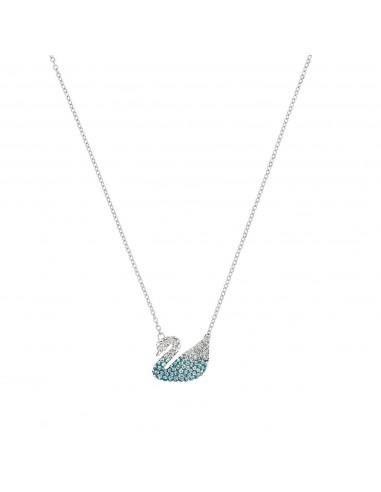 Iconic Swan necklace rhodium plating...