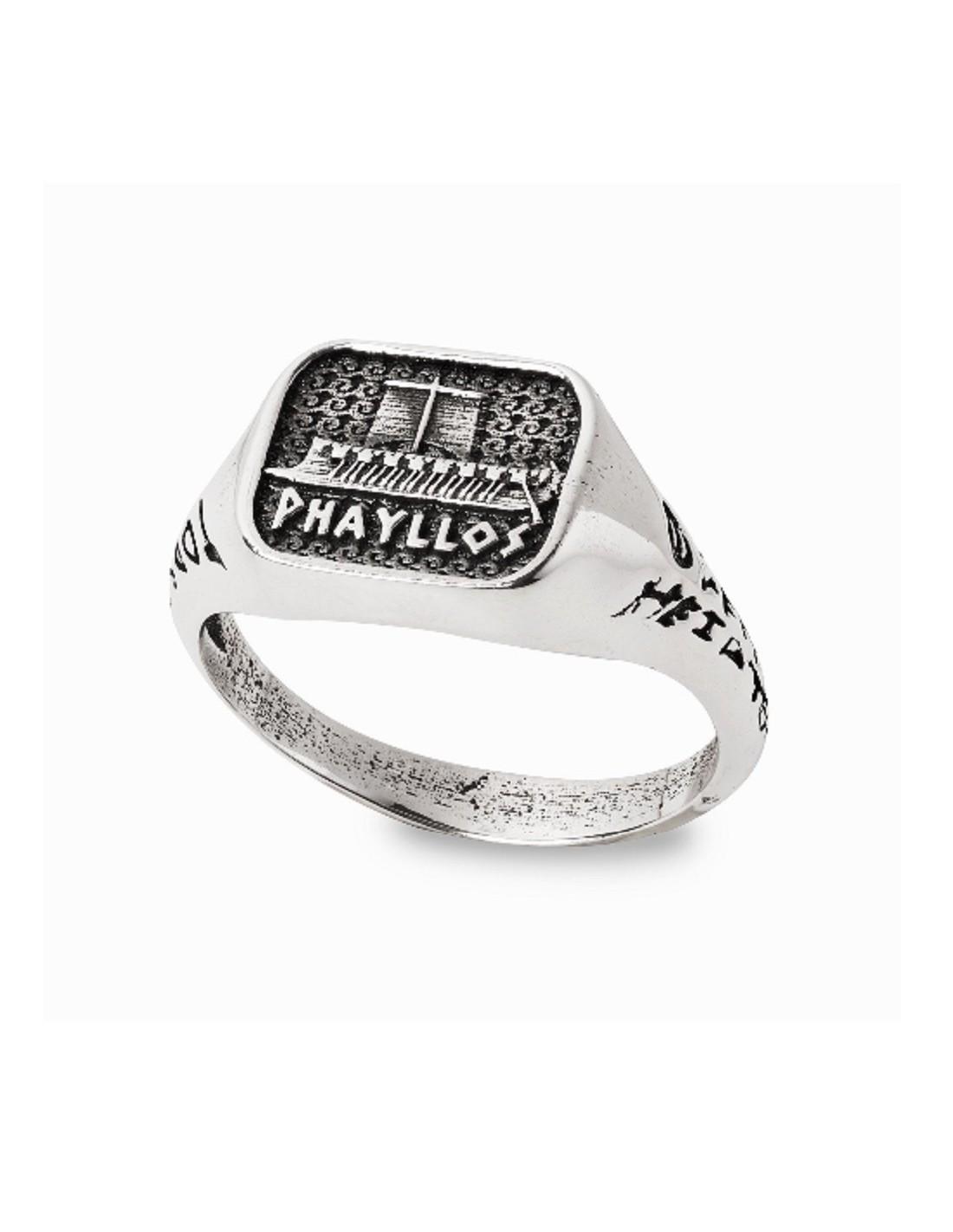 migliore vendita vendita usa online molti alla moda Anello da uomo gioielli Gerardo Sacco in argento Phayllos con trireme 27870