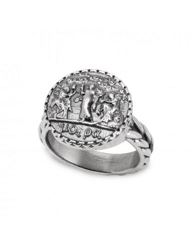 Gerardo Sacco anello Moire in argento...