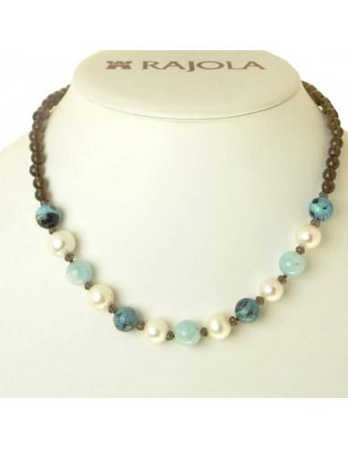 Rajola necklace ORTENSIA fume quartz...