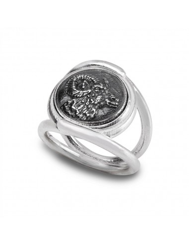 Gerardo Sacco ring Ariete in silver...