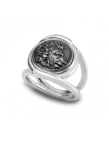 Gerardo Sacco anello Leone in argento...
