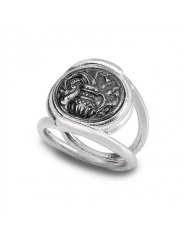 Gerardo Sacco ring Aquarius in silver...
