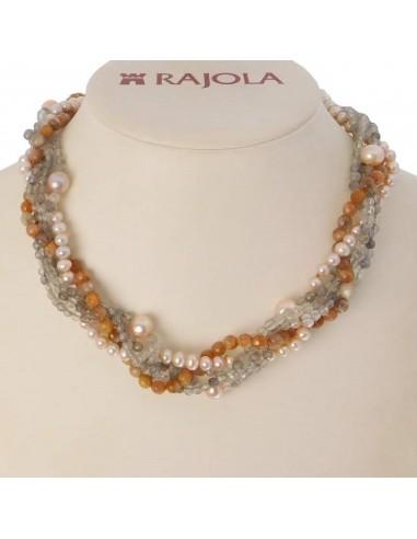 Rajola necklace CALYPSO in biwa beads...