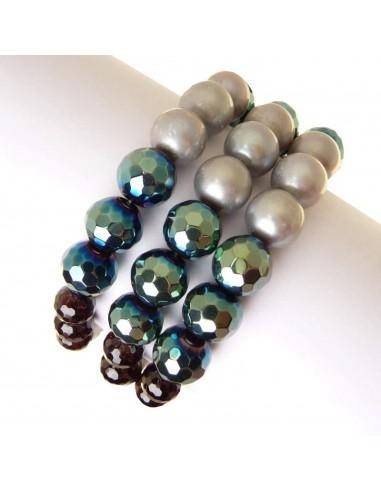 Rajola bracciale VELVET in perle biwa...
