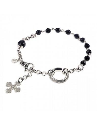 TUUM Rosary Bracelet in Rhodium...