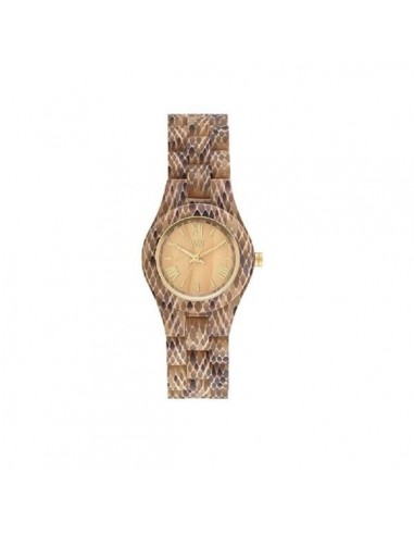 Clock CRISS PYTHON BEIGE Wewood in wood