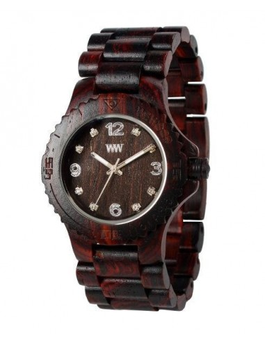 DATE DENEB Chocolate Wewood watch in...