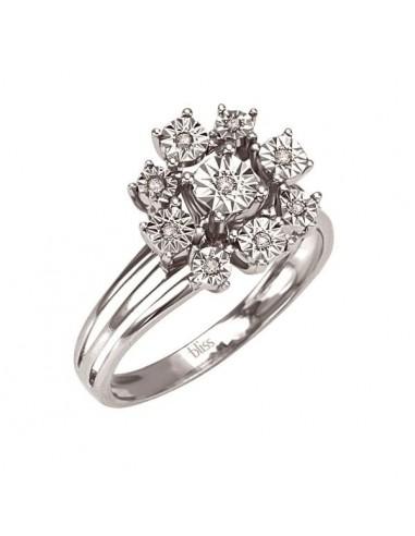 Bliss anello Sogno in oro bianco e...