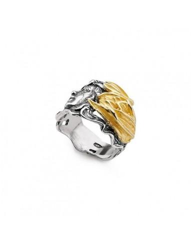 Gerardo Sacco January ring in silver...