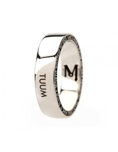 TUUM Ring Number One in Rhodium...