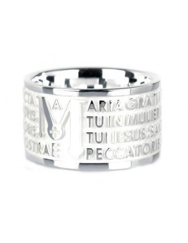 TUUM Ring in white silver with the...