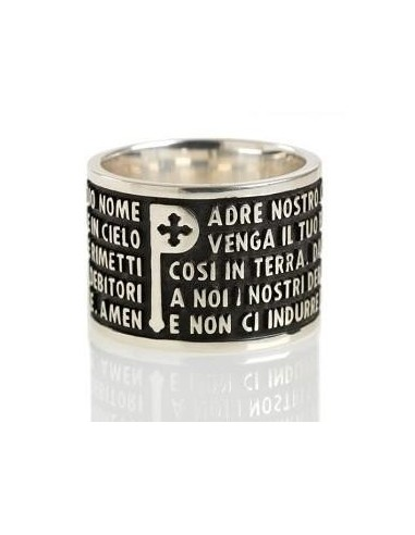 TUUM Burnished silver ring with the...