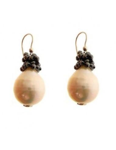 Orecchini di perle e oro Rajola...