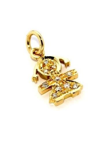 LeBebè sissy pendant in yellow gold...