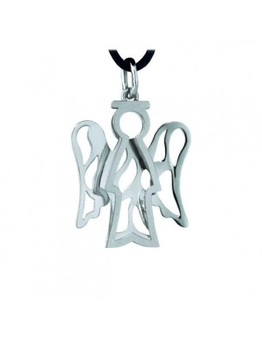 Pendente Angelo BIG in oro bianco 9Kt...