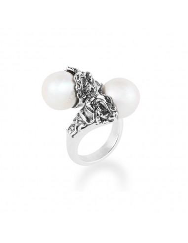 Gerardo Sacco anello con perle e...