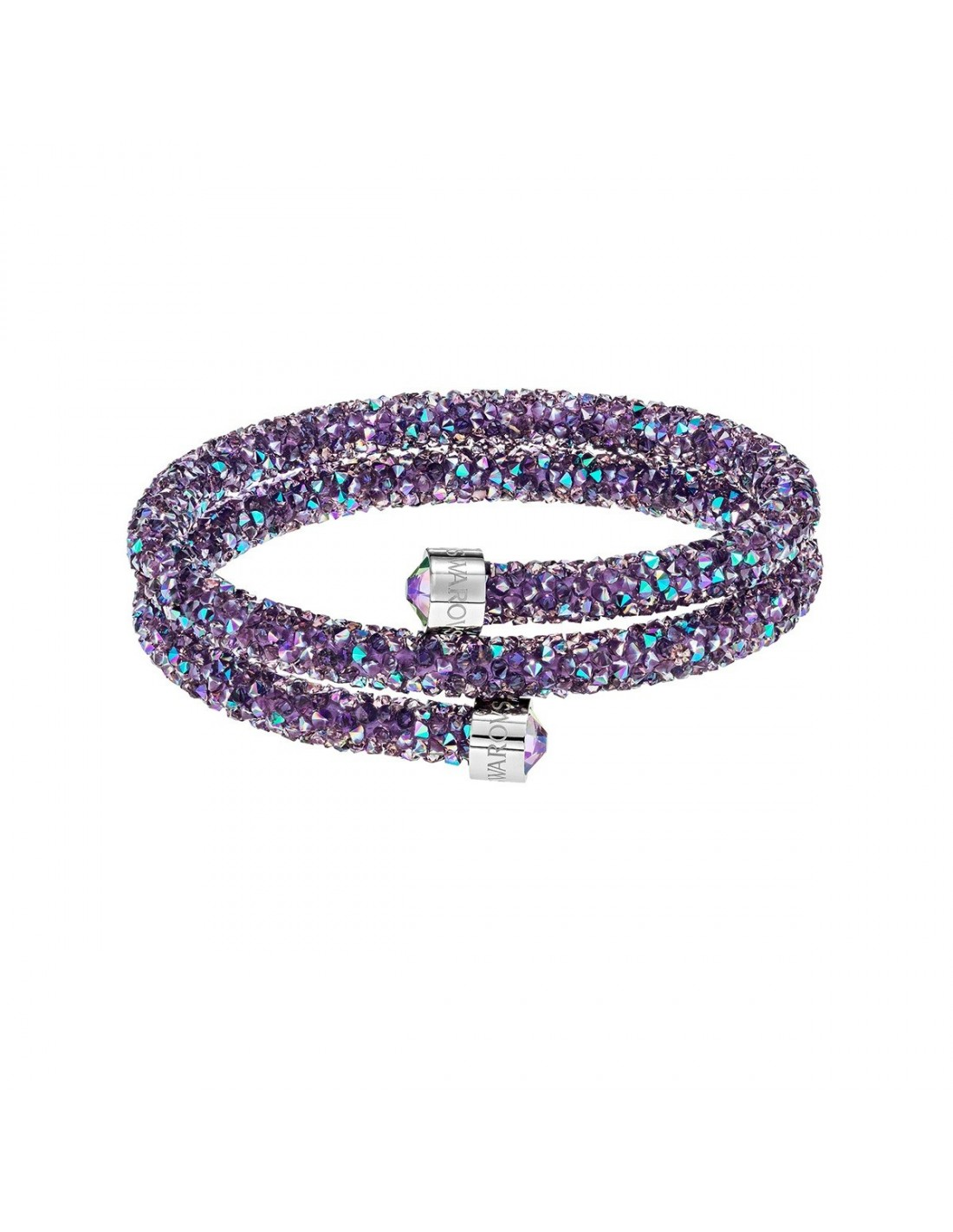 swarovski tap bracelet bracelets to in en zoom double crystaldust steel purple