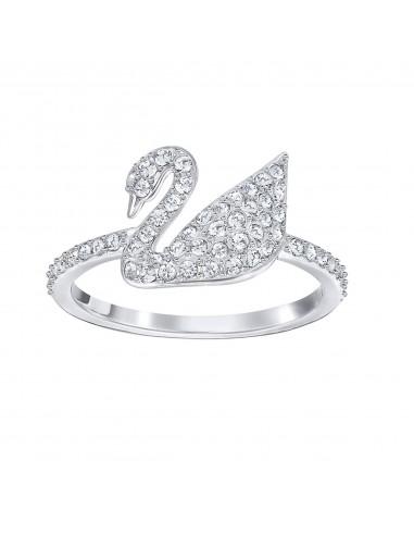 Iconic Swan swarovski ring, rhodium...