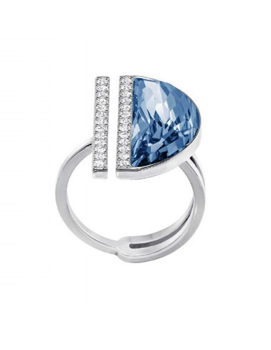 Ring Glow swarovski azure plating...