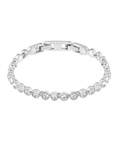 Rhodium Plated White Tennis Bracelet...