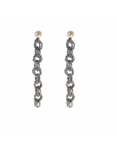 Rajola earrings INFINITY in hematite...