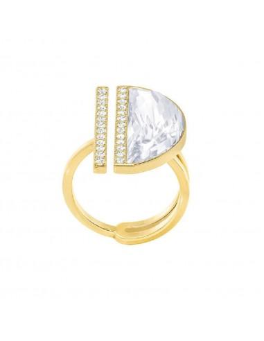 Ring Glow Swarovski gold plated size...