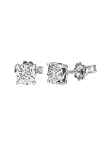 Bliss jewelry light earrings in white...