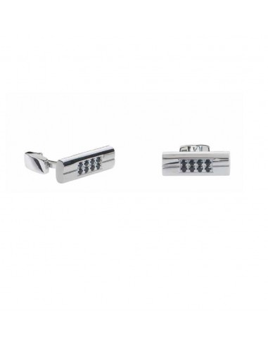 Cufflinks RossoAmante in steel and...