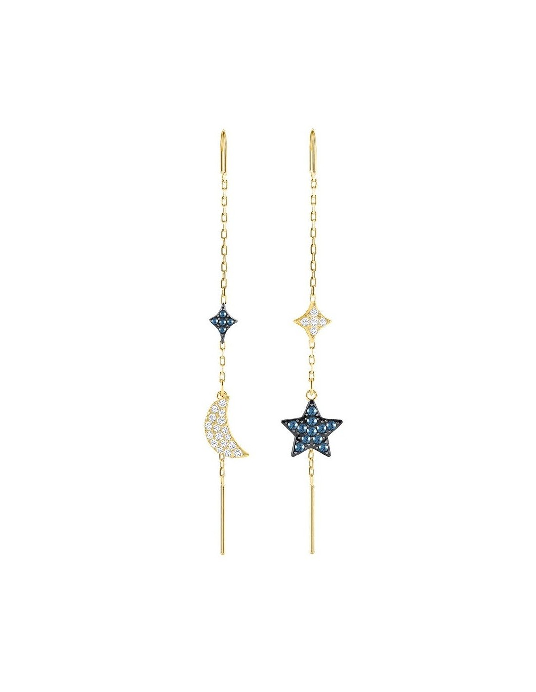 2eeafbe02e84 Duo Moon earrings Swarovski jewelry mixed plating pendants 5412881