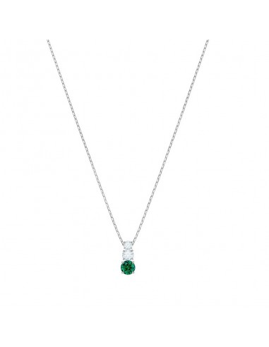 85dbe614a ... Attract Necklace Trilogy Round Swarovski jewelry green rhodium plating  5416153. Previous