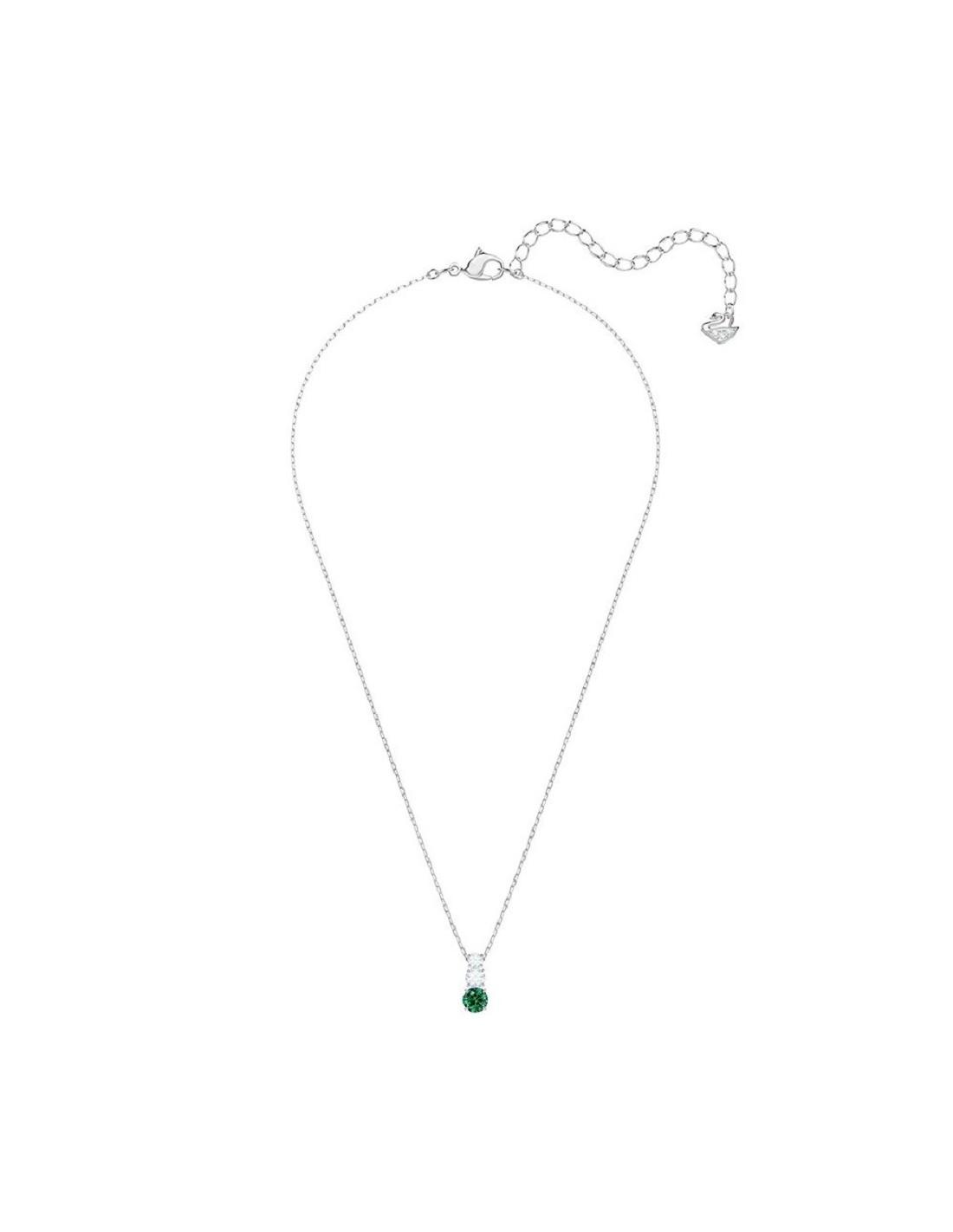 296c09479 ... Attract Necklace Trilogy Round Swarovski jewelry green rhodium plating  5416153. Previous