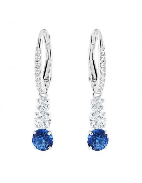e1132c7fd ... Earrings Attract Trilogy Round Swarovski jewelry light blue rhodium  plating 5416154. Previous. Next